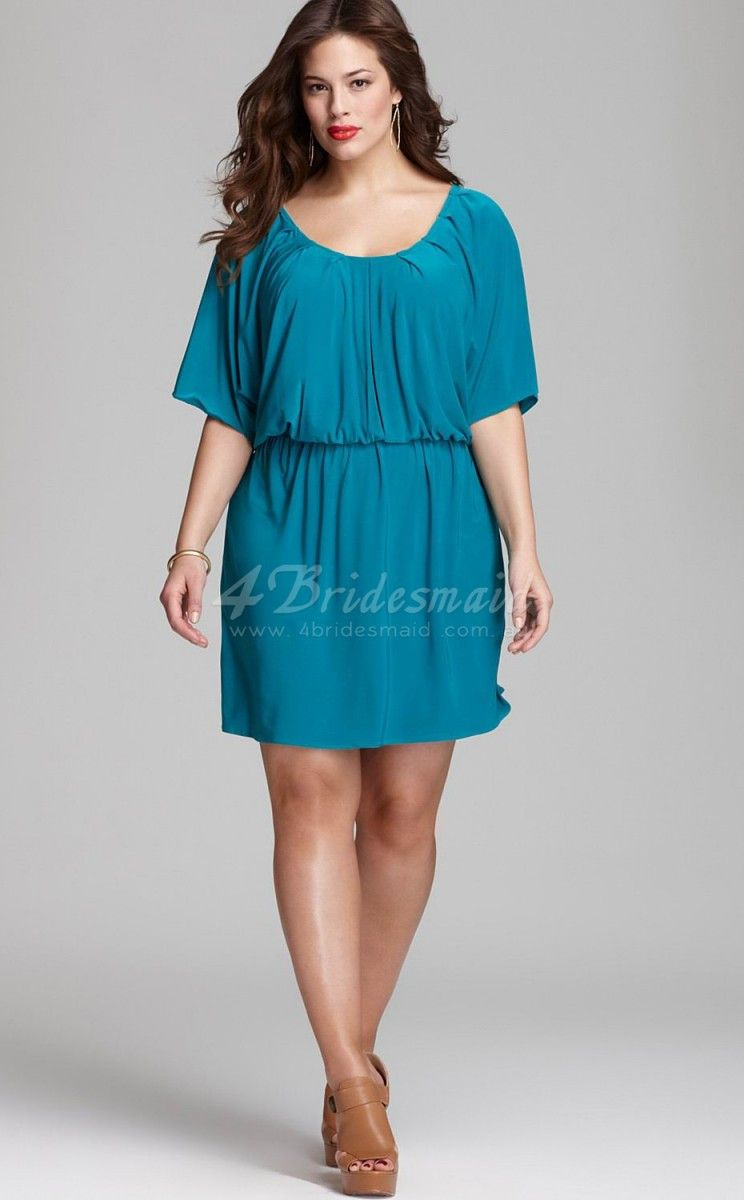 plus size short bridesmaid dresses with sleeves |  with sleeves