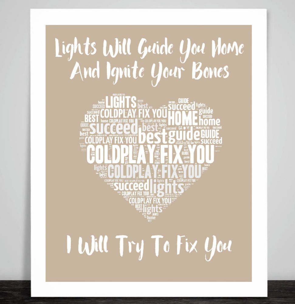 Fancy Lyrics Lights Will Guide You Home Vignette - Home Decorating ...