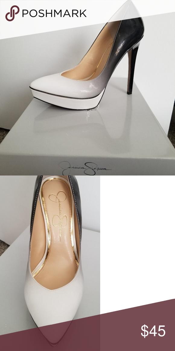 a90d946aed8 Jessica Simpson pump Jessica Simpson Venisse black/white ombre heel ...