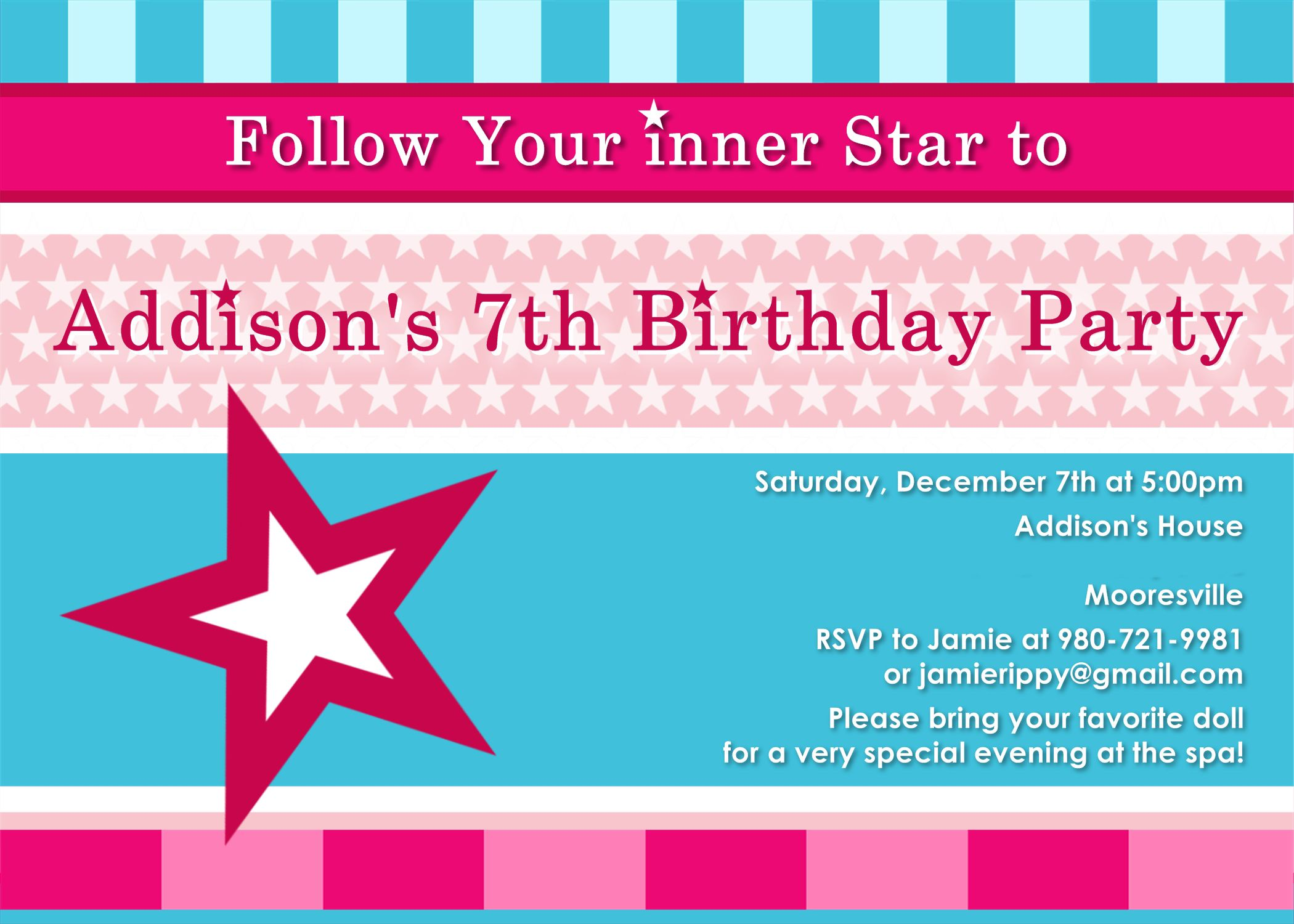 Spa Party Invitations For Girls Spa At Home Pinterest Spa