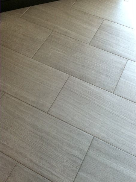 Florim Stratos Avorio 12x24 Porcelain Tile Master Bathroom Floor Mapei Grout 93 Warm Gray