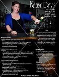 Image Result For Bartender Resume Bartender Pinterest Bartenders