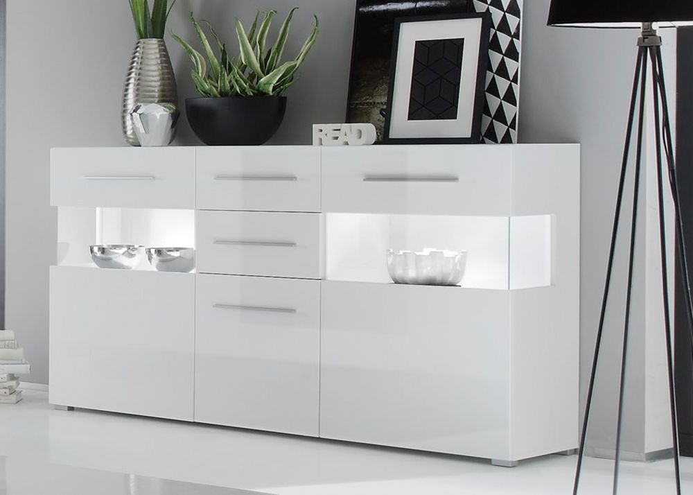 Star Sideboard In Hochglanz Weiss Inkl Led Beleuchtung Furniture Living Room Decor Home Decor