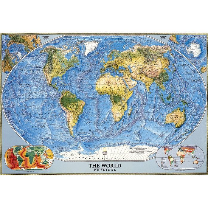World Physical Wall Map | Wall maps and Walls