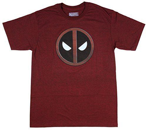 Marvel Comics Deadpool Logo Licensed Graphic T-Shirt | Thesitcompost.com