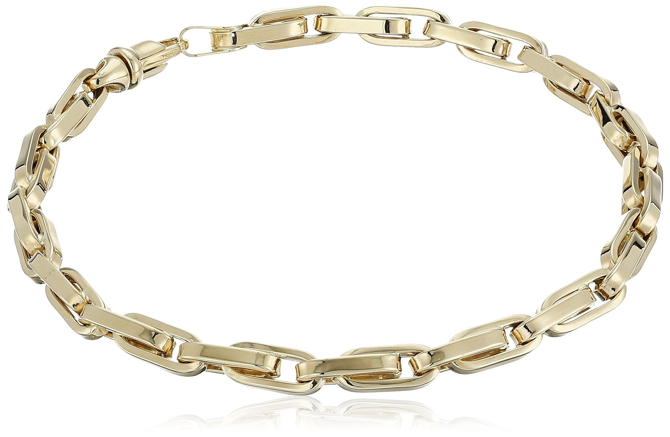 Menus k yellow gold link bracelet