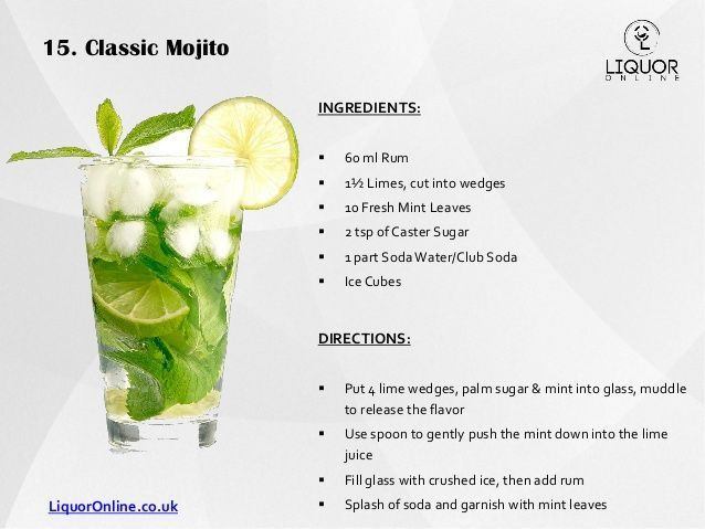result for classic mojito recipe
