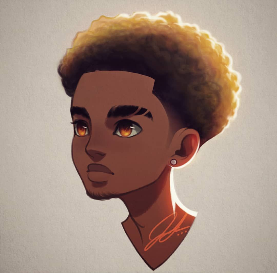 Mean Mug Had This Drawing Of One Of My Comic Characters Laying Around Figured I Post It Today Since Cartoon Art Black Cartoon Characters Black Art Pictures