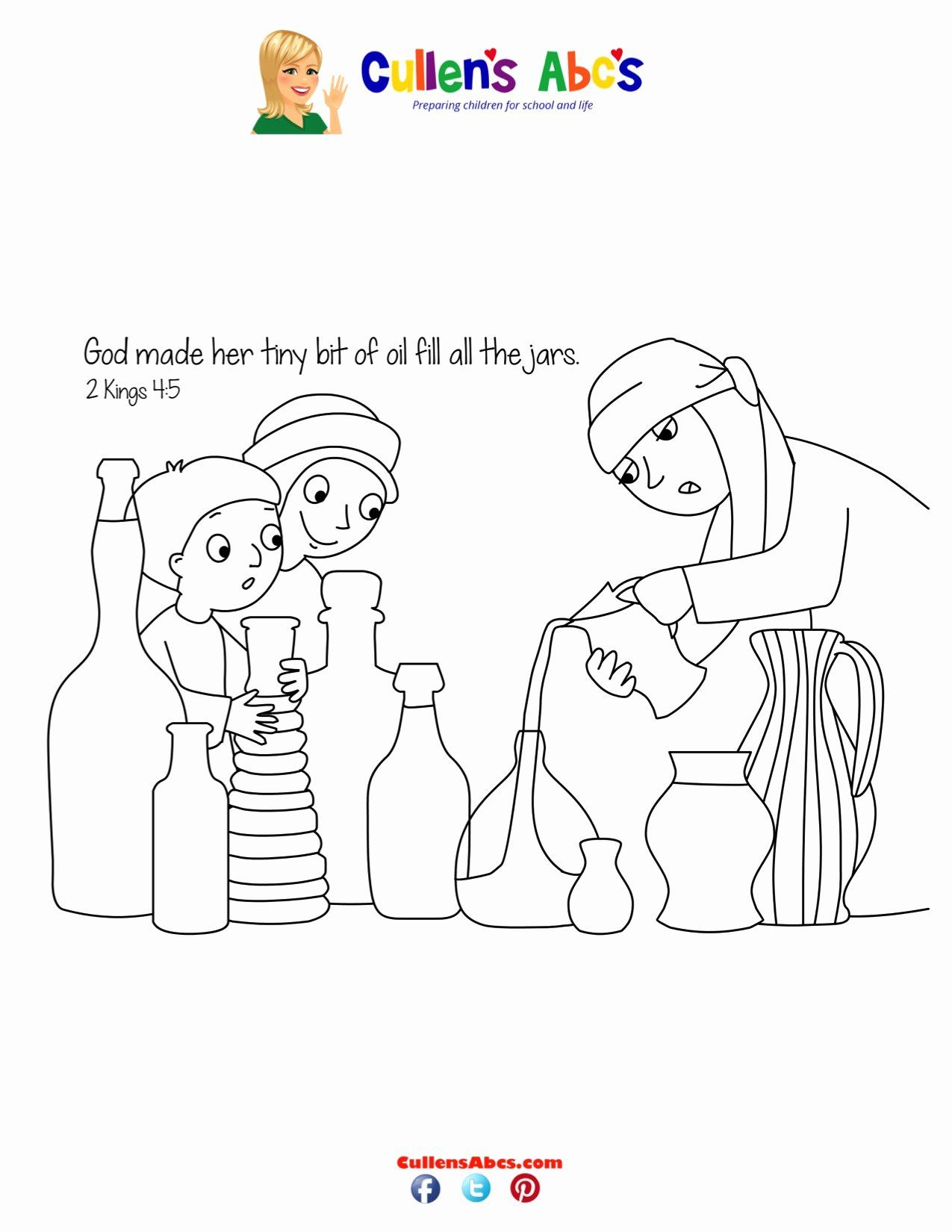 Pin By Pam Lanham On Bible Craft Ot Prophets Elisha Elijah And The Widow Bible Coloring Pages Coloring Pages