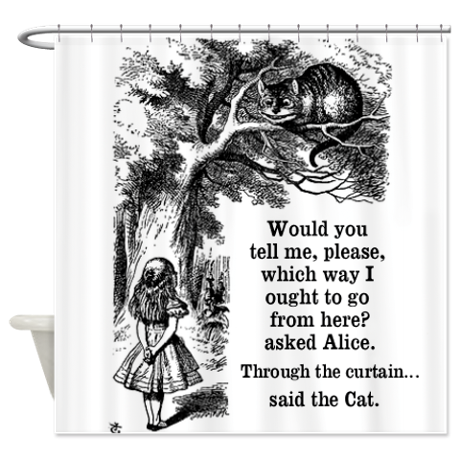 Alice In Wonderland Shower Curtain By Inspirationz Store Alice