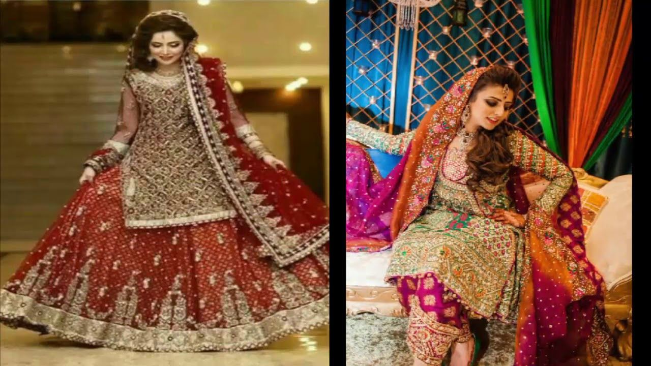 Mehndi Outfits 2018 : Latest trendy top bridal mehndi mayon and reseption dresses