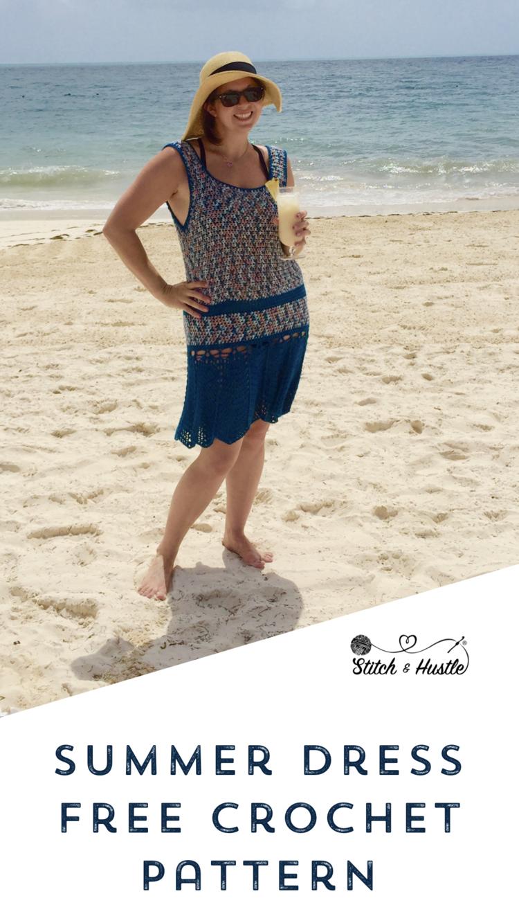fbc5b207e7 Sanibel Cover Up - Pool Dress Free Crochet Pattern | crochet / knit ...