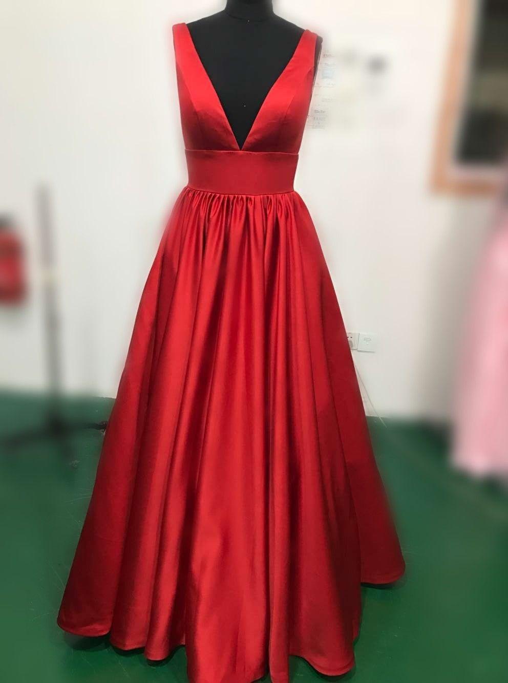 Royal blue prom dresssexy vneckline evening dressdiscount