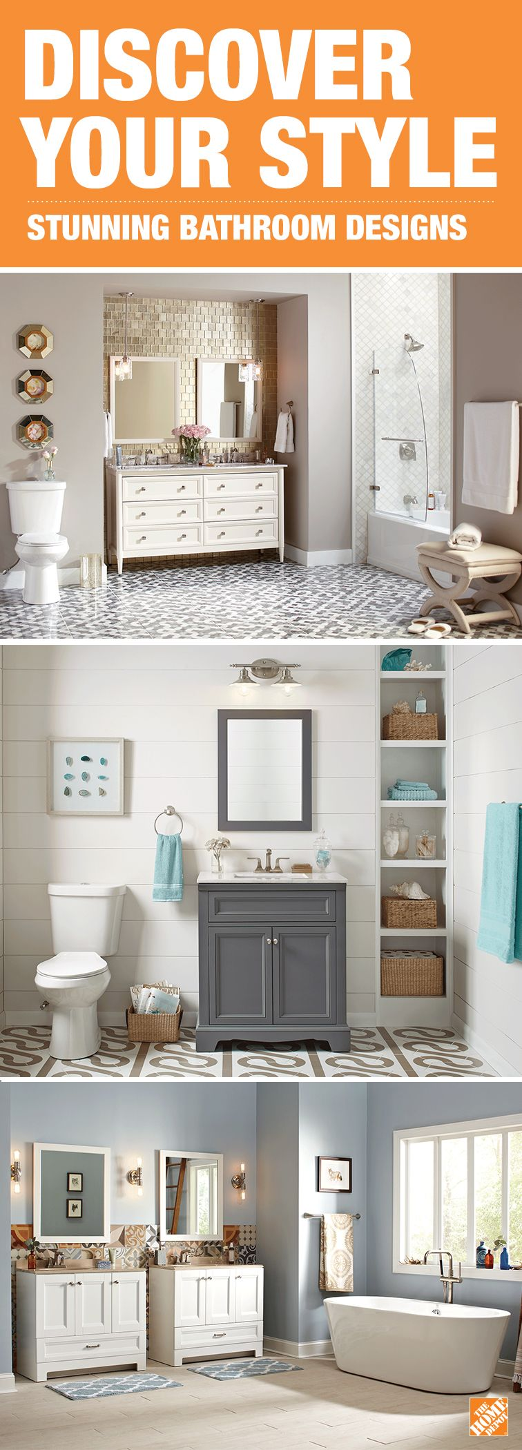 To create the bathroom of your dreams begin by choosing a stunning