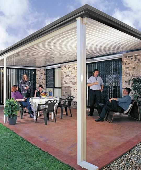 Stratco Outback Flat Roof Awnings Carports Pergolas