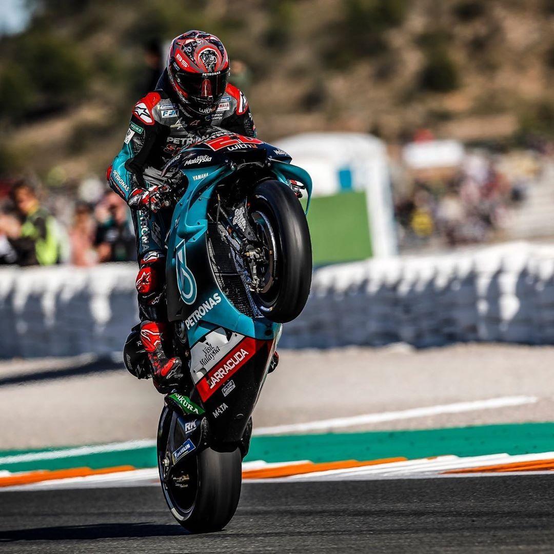 Fabio Quartararo On Instagram Wheeliewednesday In 2020 Motogp Cute Boys Racing