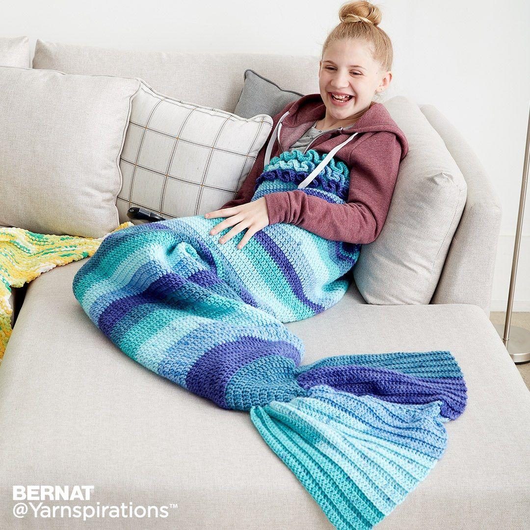Crochet Mermaid Snuggle Sack | Free Pattern | Yarnspirations ...