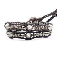 CHAN LUU:Pyrite Mix Stud Bracelet Set