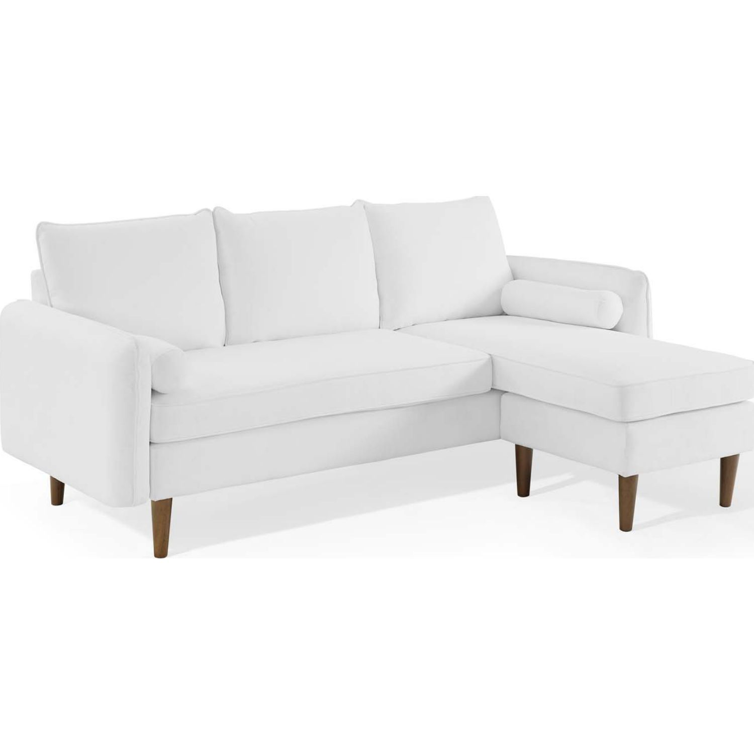 Modway Eei 3867 Whi Revive Right Or Left Sectional Sofa White Fabric In 2020 Sectional Sofa Fabric Sofa Design White Fabric Sofa