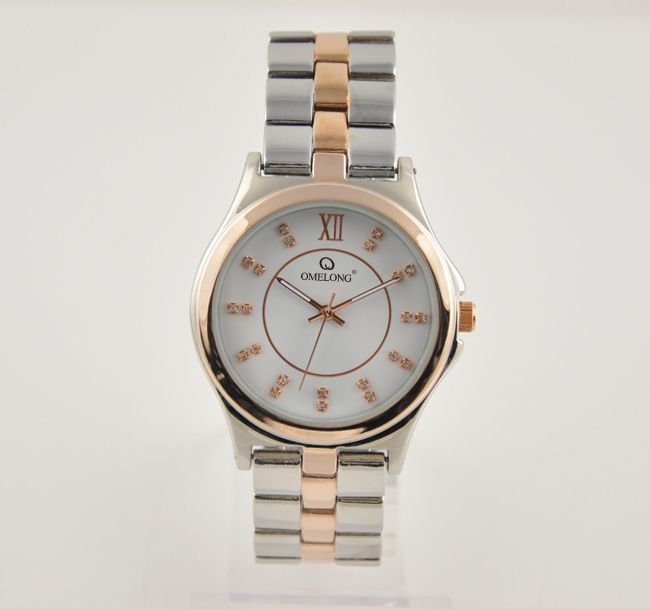 IP 2 stone plating silver/gold ,ladies watches
