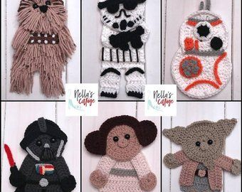 Crochet Pattern - INSTANT PDF DOWNLOAD - Crochet Patterns - Crochet Appliques - Wizard Appliques - Crochet Wizard Patterns - Crochet #crochetapplicates