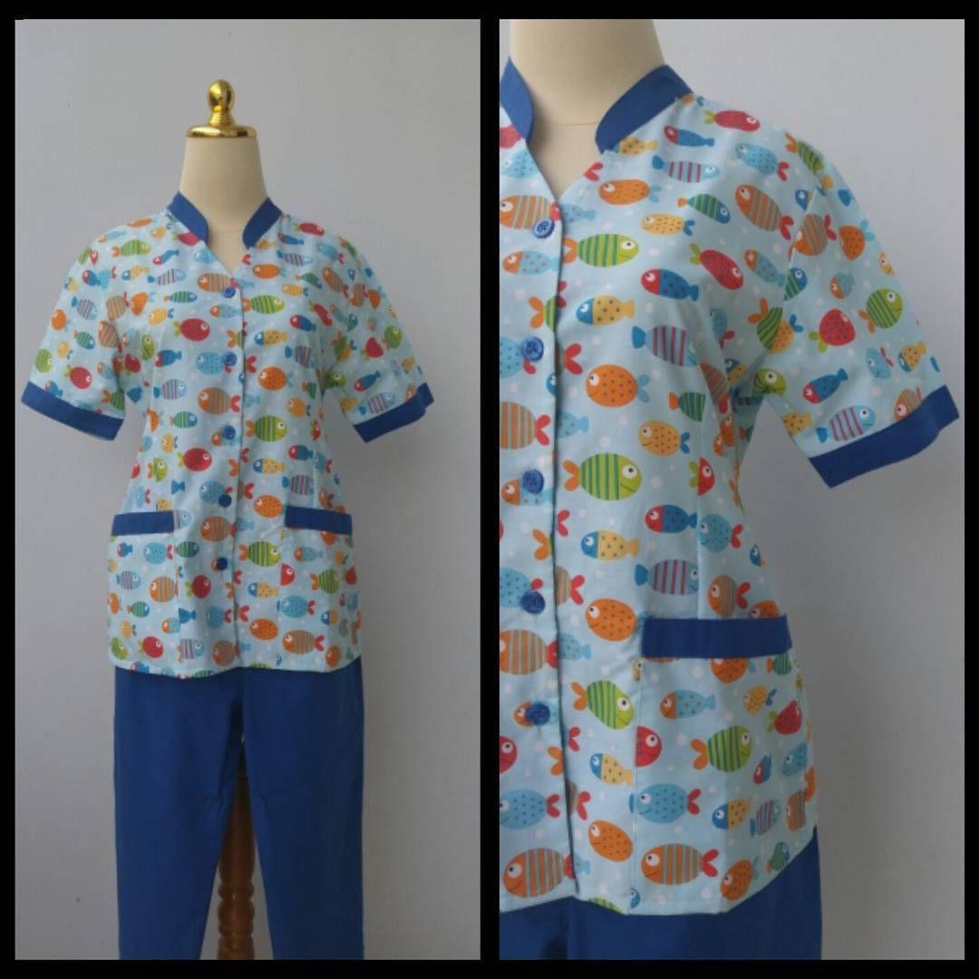 Seragam Suster / Babysitter / Nanny's Uniform Type Ikan