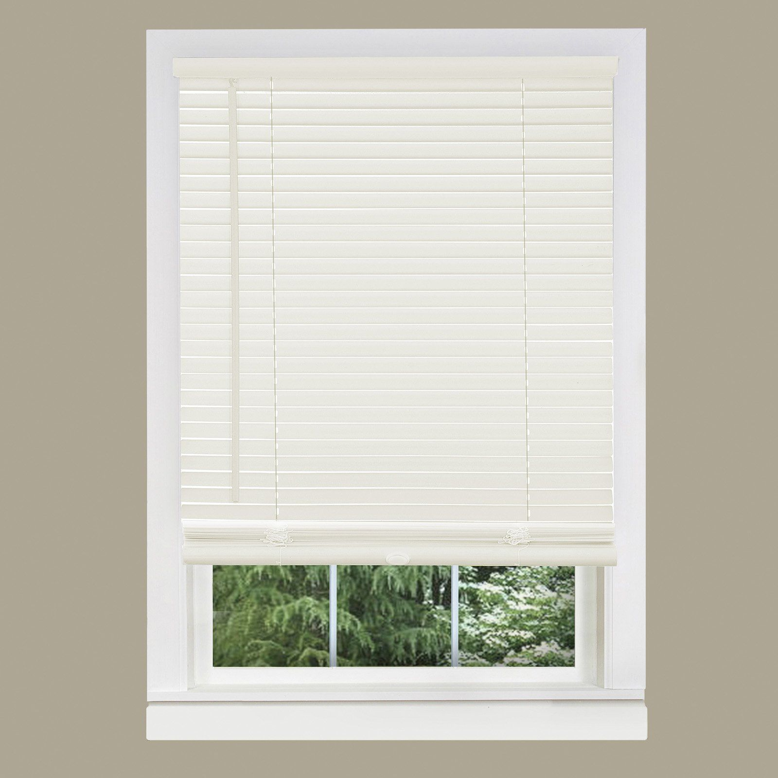 Achim 1 In Gii Morningstar Cordless Vinyl Mini Blinds Alabaster Cordless Blinds Vinyl Mini Blinds Blinds For Windows