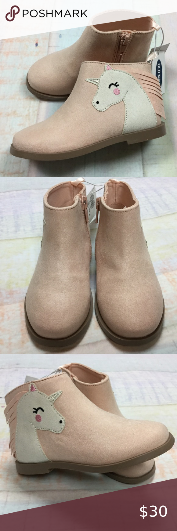 Toddler Pink Unicorn Boots