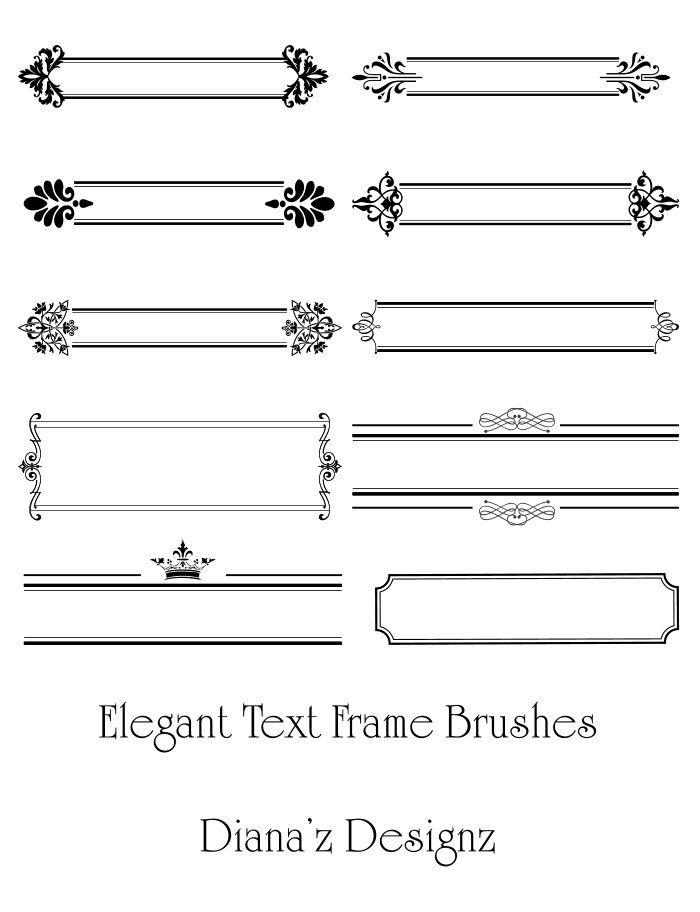 Elegant Text Frame Brushes by DianazDesignz.deviantart.com ...