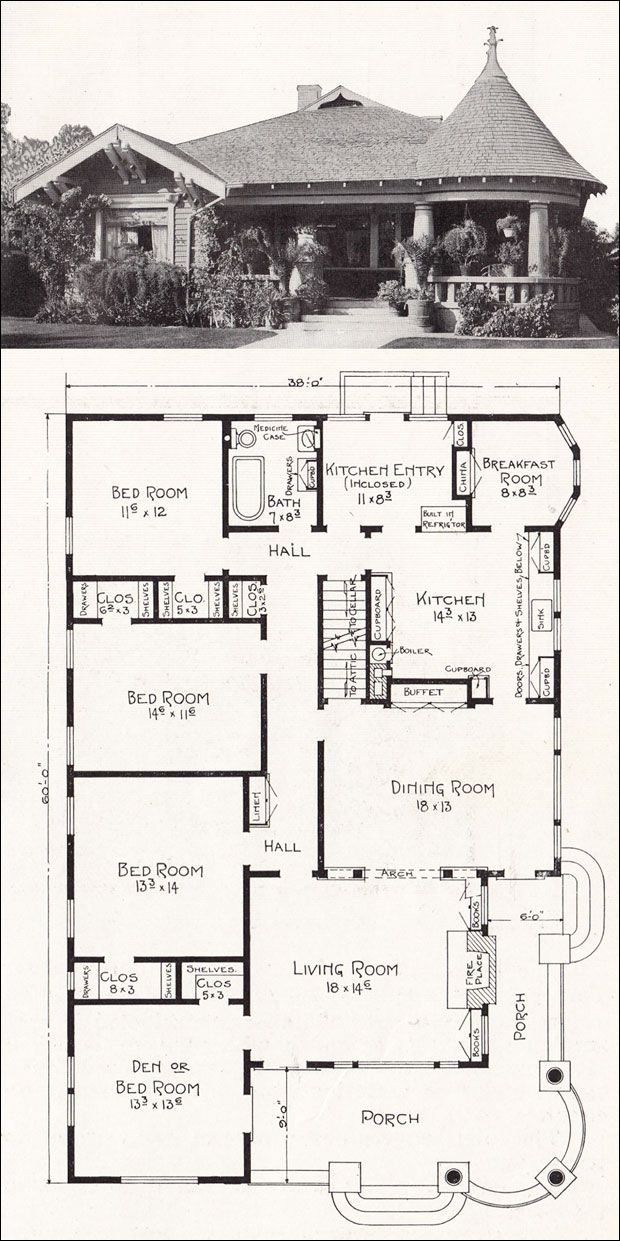 C1918 Stillwell California Homes I Love These Old Homes Must Find One To Buy Or Remodel Ours To Pay Homag Vintage House Plans Craftsman House House Plans