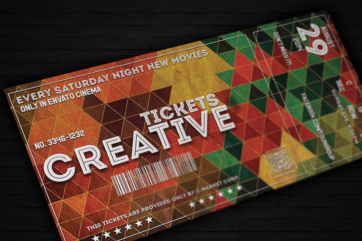 Creative Ticket 01 Ticket Design Template Templates Free Design Event Ticket Template