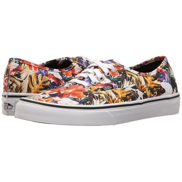 Vans Authentic ((Cuban Floral) BlackTrue White) Skate Shoes