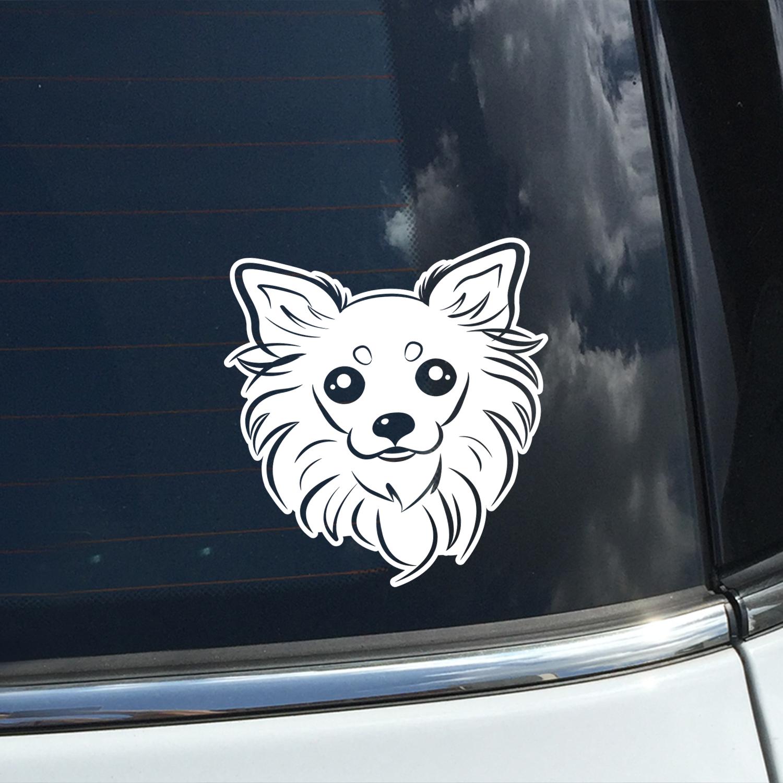 Chihuahua Long-Hair Decal Show your Breed Chihuahua Pet Window Sticker