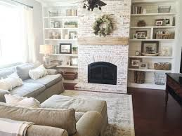 Image Result For Whitewashed Brick And Shiplap Fireplace With Tv Over Mantle