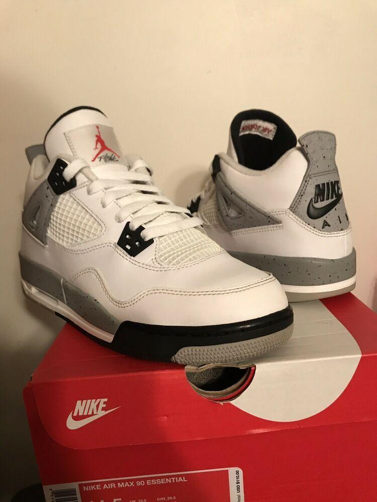 9067b4a4b1a (Sponsored)eBay - Nike Air Jordan IV Retro 4 White Cement Red Shoes 2016