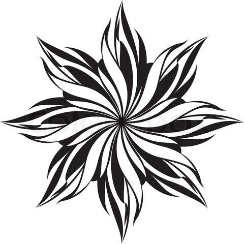 Image result for graphic design flower patterns black and white