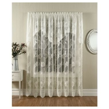 Comfort Bay Anna Lace Panel With Attached Valance 58 X 84 Dollar General