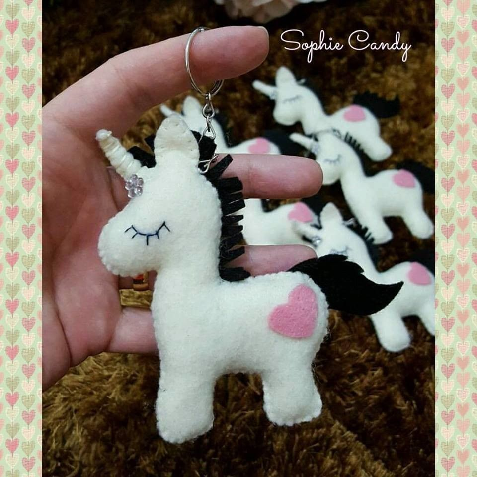 Resultado de imagem para unicornio feltro