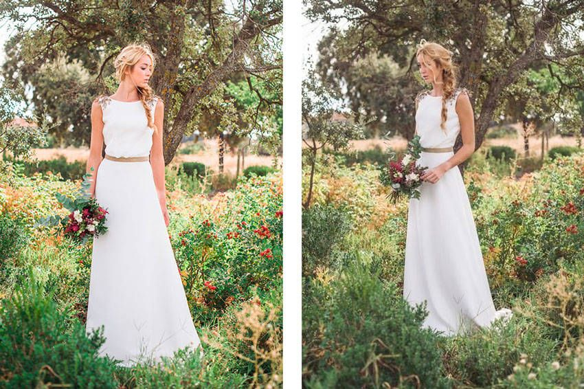 vestido de novia para boda de campo – vestidos largos