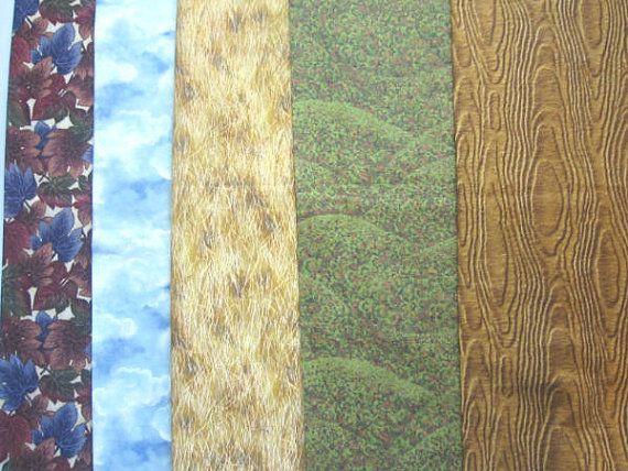 Landscape Fabric   5  Half Yard  Bundle O   by SewMeNowFabrics