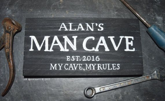 Man Cave Plaques Signs : Genuine ford parts and service man cave garage wooden wall plaque