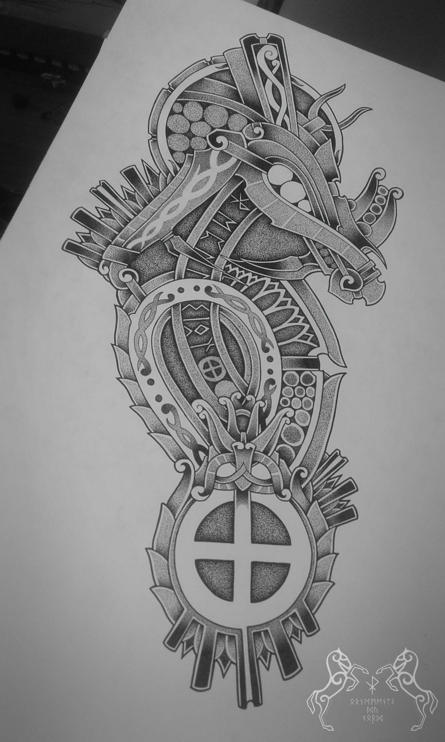 Skoll Sun Tattoo S Viking Tattoos Norse Tattoo Medieval Tattoo