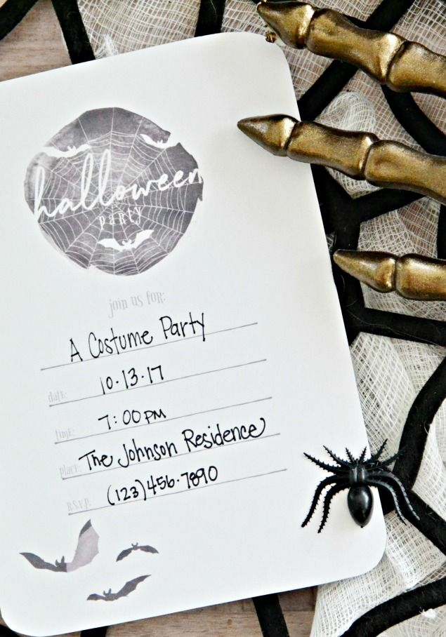 Free Printable Halloween Party Invitations | Halloween party ...