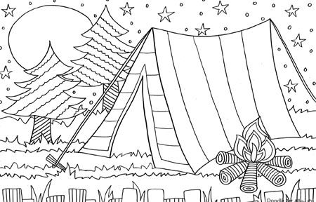 photo regarding Free Printable Coloring Pages for Kids- Camping named Tenting Coloring Webpages No cost Printable Coloring Web pages