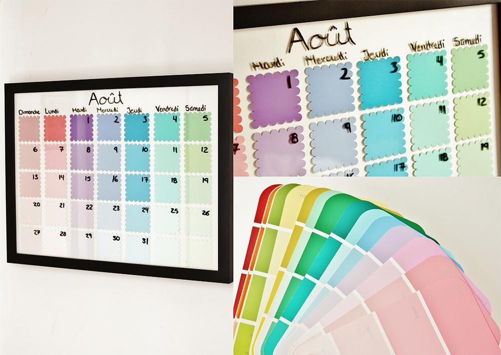 Calendrier DIY avec cartons de peinture Bullet, Organizations and - preparer un mur pour peindre