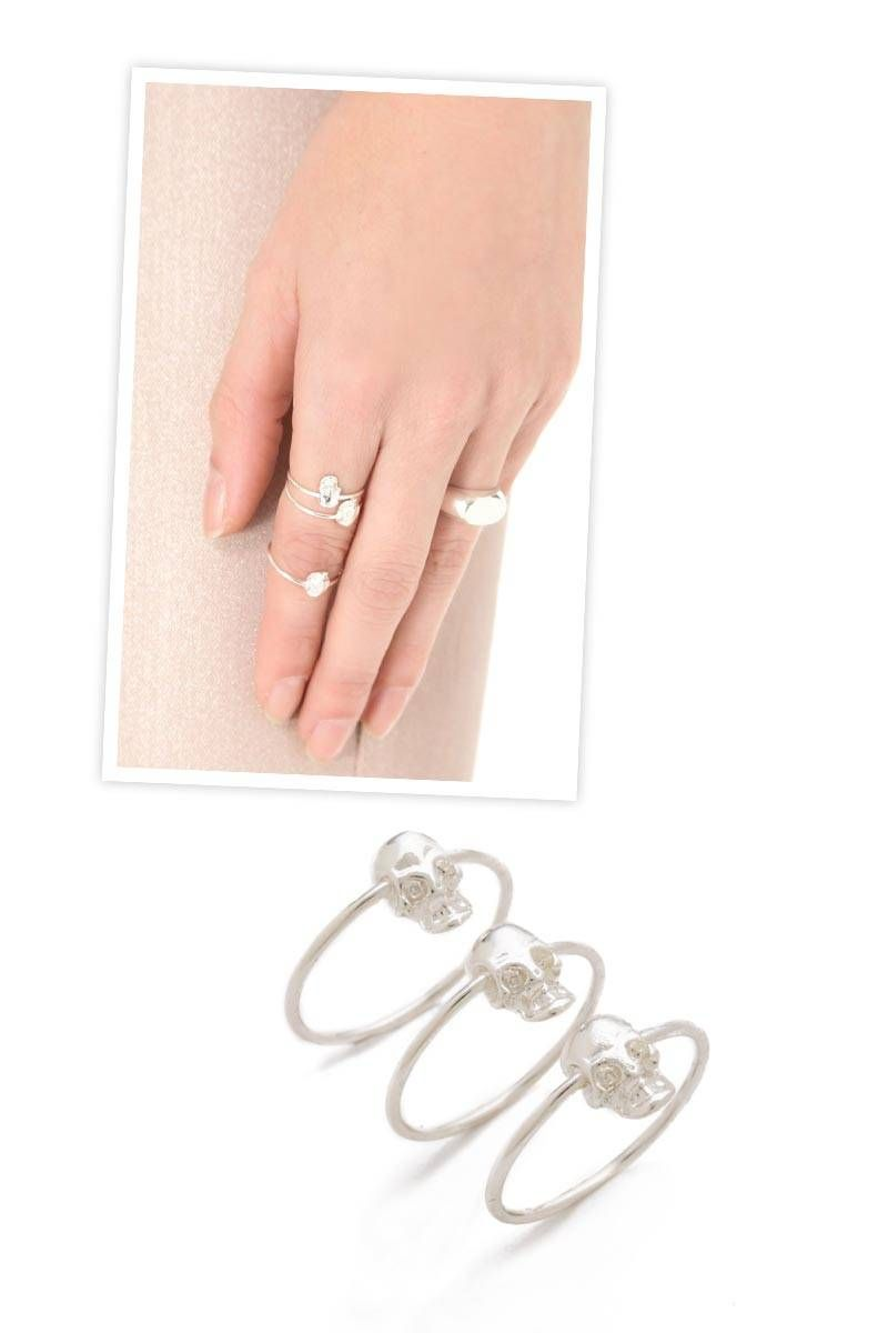 See You at the Souk Stackable Rings, $59.50 (on sale); shopbop.com   - ELLE.com