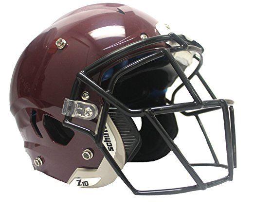 5e6c03b9 Schutt Adult Vengeance Z10 w/attached Titanium Facemask (Maroon Large,  Black TEGOP) (Maroon, Large)
