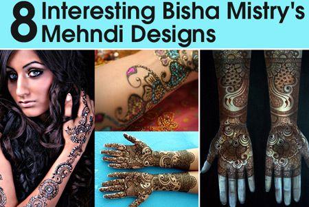 8 Interesting Bisha Mistry's Mehndi Designs