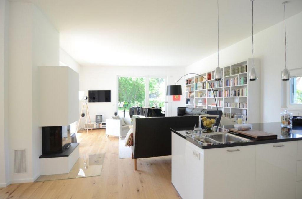 moderne wohnzimmer mit offener küche | chemikum.com - Moderne Kuche Mit Wohnzimmer