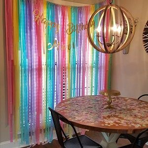 Streamer Backdrop, Fringe Backdrop, Unicorn Party, Unicorn Party Decorations, Pastel Rainbow, Ice Cream Party, Coachella Party, Bachelorette